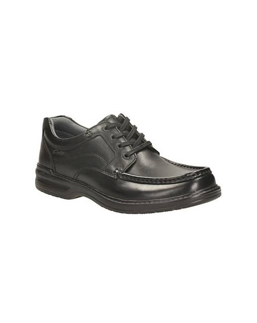 Clarks Keeler Step Black Leather 10½ UK H / 45 EU IEXJa