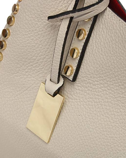 ae3653733 Daniel Mooch Leather Studded Tote Bag | Simply Be