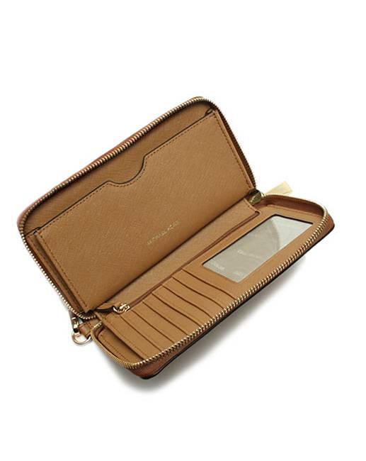 af0ced809db5 Michael Kors Leather Wristlet Smartphone Case Wallet