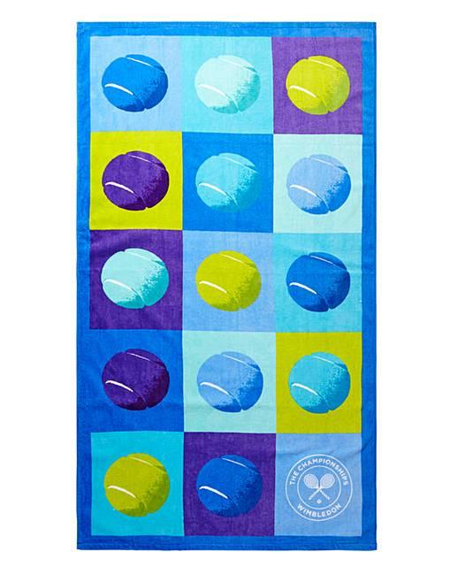 Wimbledon Christy Tennis Ball Pop Beach Towel