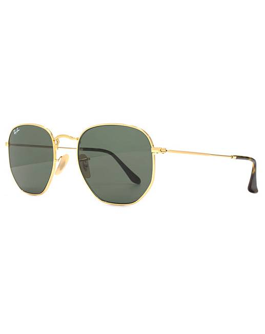 e088cdb8b0008 Ray-Ban Hexagonal Flat Lens Sunglasses   Jacamo