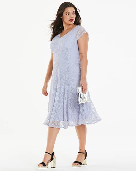 5e3b134decfc Joanna Hope Midi Scallop Lace Dress   Simply Be