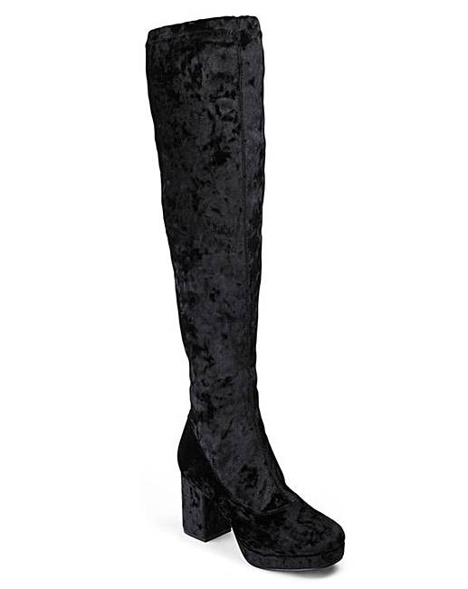 2af2bee0a6eb Over the Knee Boot Standard Fit | Simply Be