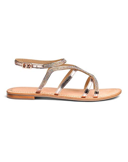 b8cbb1505f8 Amy Leather Sandals EEE Fit