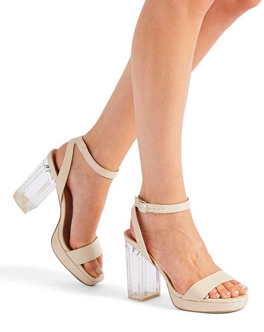 a3d14bcd625 Louise Perspex Heels Wide E Fit