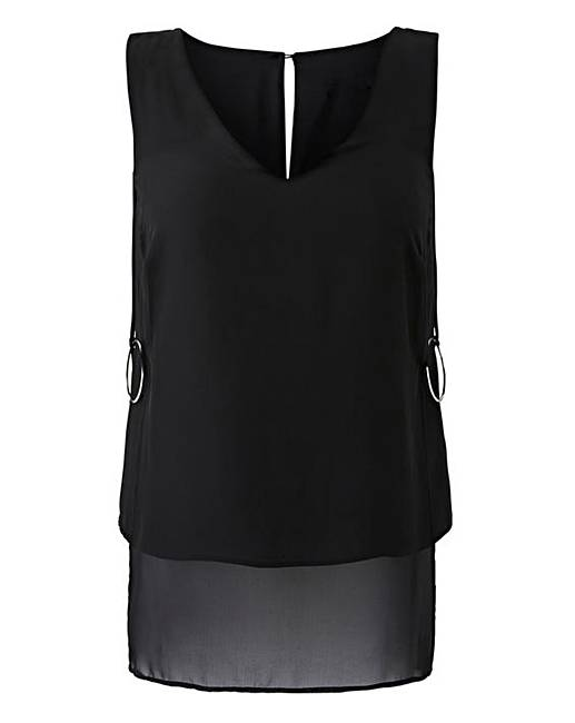 68eba97415420 Black Longline Blouse