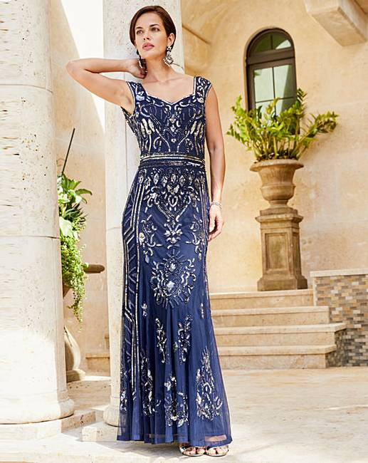 35fdf7a38b53c Joanna Hope Beaded Maxi Dress | Oxendales