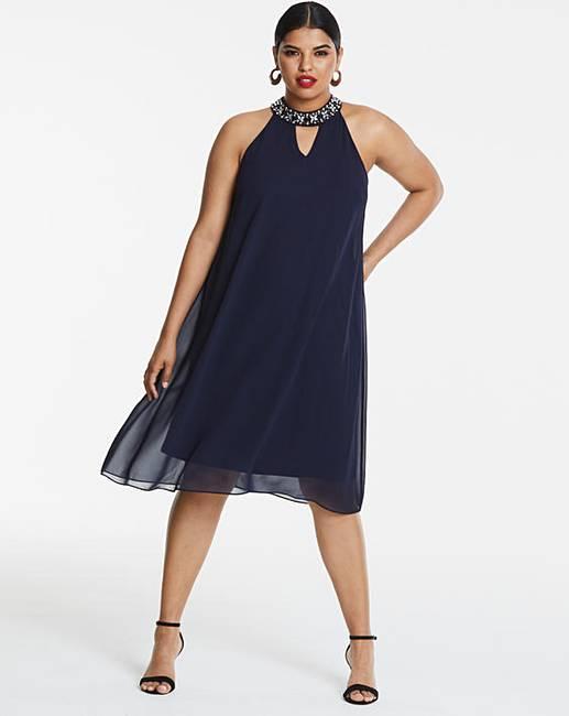 9305c731cd85 Joanna Hope Bead Trim Swing Dress