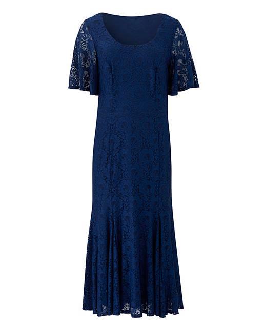 89471527b875 Joanna Hope Navy Lace Midi Dress