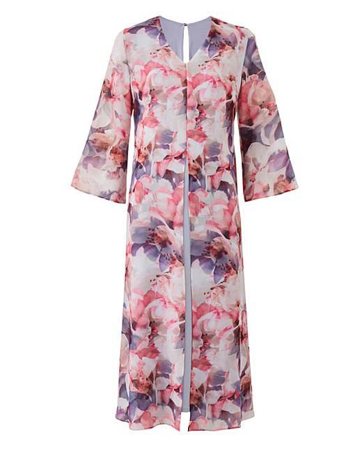 50f92171ad87 Nightingales Chiffon Overlay Dress