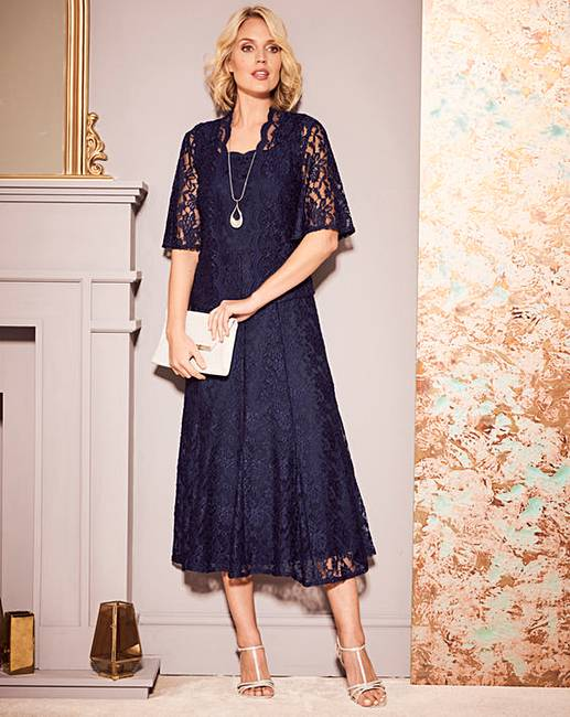 092803f5d66 Nightingales Navy Lace Dress and Jacket