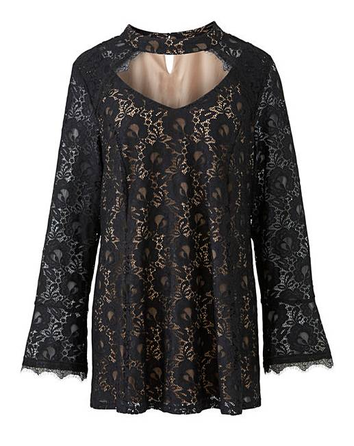 17776e17307 Joanna Hope Lace Tunic | Fashion World