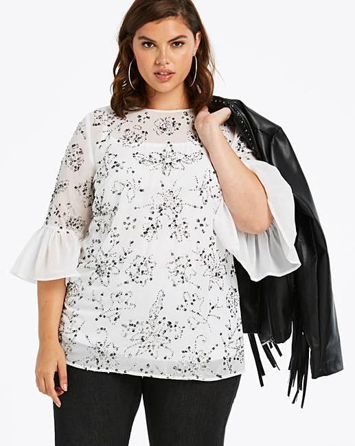 5c5288073e5c47 Wholesale Blouses   Shirts  Joanna Hope All Over Sequin Blouse ...