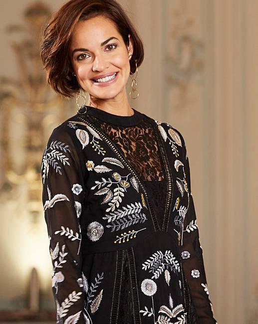 Joanna Hope Embroidered Maxi Dress  33a860301