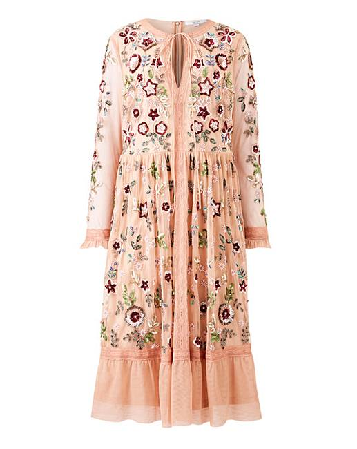 Joanna Hope Embellished Midi Dress by Simply Be
