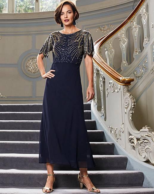 55e34777 Joanna Hope Sequin Detail Maxi Dress   J D Williams