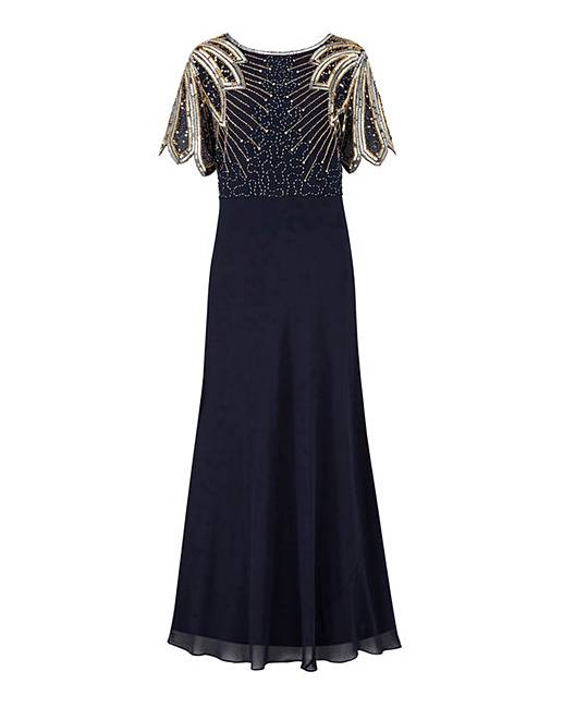 a9716498 Joanna Hope Sequin Detail Maxi Dress. Click to view 'Joanna Hope' products.  Rollover image to magnify