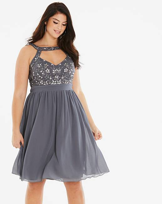 Little Mistress Chiffon Skater Dress  d5ba61ef9