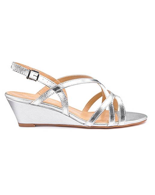 fb05923244e Strappy Low Wedge Sandals E Fit