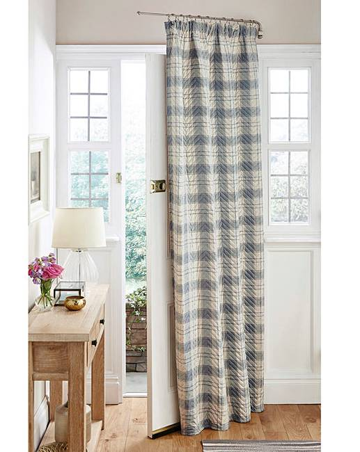 Quilted Thermal Tartan Door Curtain