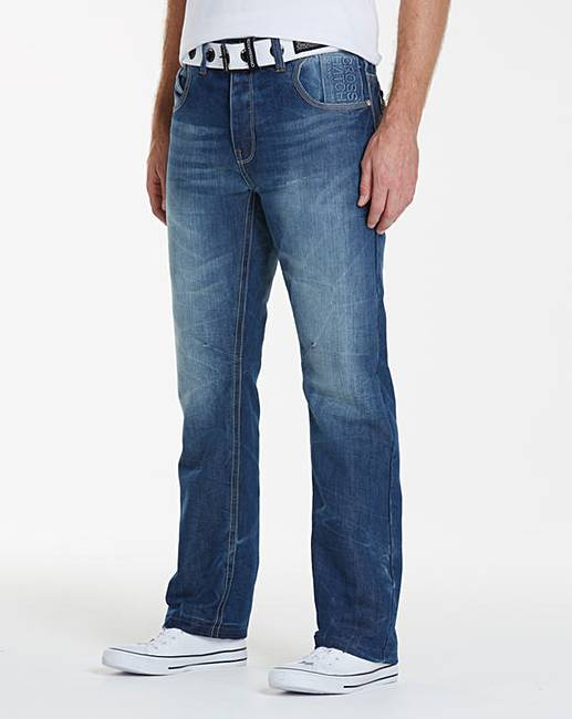 e269b400594 Crosshatch Stonewash Hornet Jeans 29in | Jacamo
