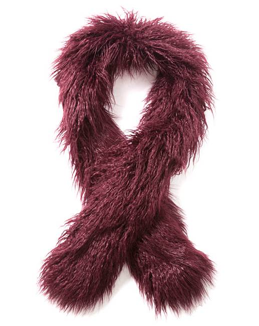 67a30dc13ff5 Burgundy Mongolian Faux Fur Stole