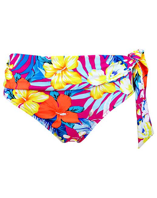 982264249c133 Pour Moi Heatwave Fold Over Tie Brief | Simply Be
