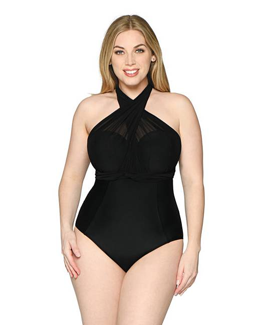 71db85f250 Curvy Kate Wrapsody Bandeau Swimsuit | Simply Be