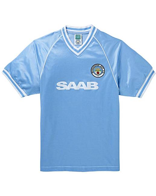 cheap for discount 2da57 5e46b Manchester City Retro Football Shirt