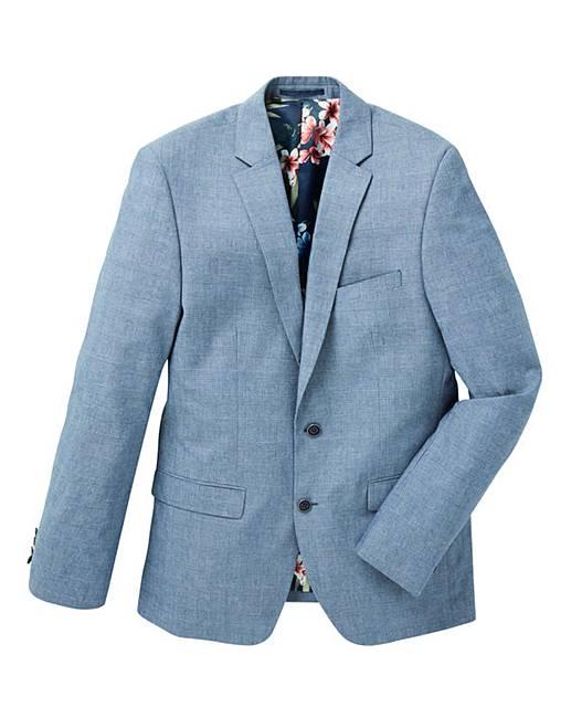 fe7dac7411bd Black Label Check Cotton Blazer Long | Jacamo