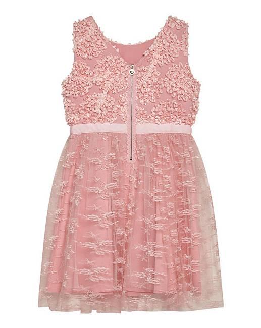 a0ea27d0b4d Yumi Girl Floral Lace Prom Dress | J D Williams