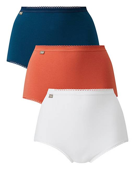 6013c39324ff Playtex 3Pack Maxi Briefs, Orange Mix   Fashion World