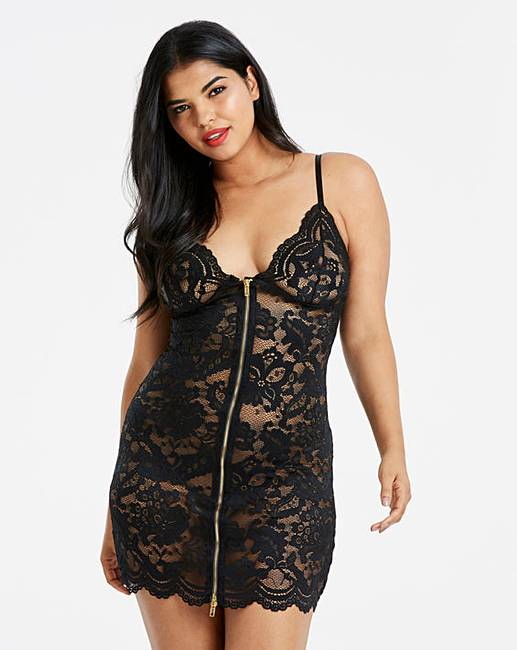 1d9f1d6663 Ann Summers Taylor Black Chemise | Simply Be