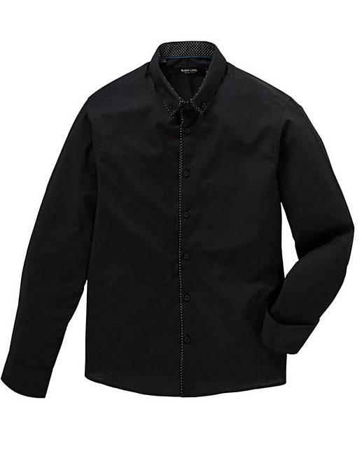 Jacamo Black Label Long Sleeve Plain Trim Front Party Shirt Regular free shipping