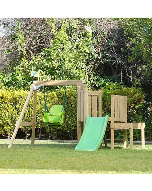 Tp Forest Toddler Wooden Swing Slide