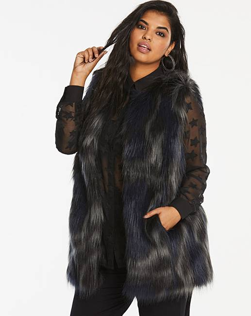 Fur Gilet by Simply Be