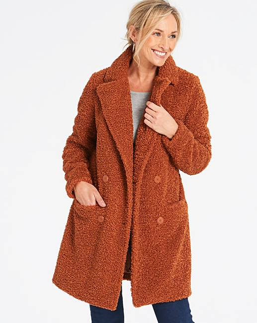 1120561fe58 Spiced Orange Teddy Faux Fur Coat