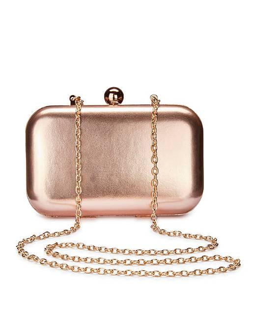 Alice Rose Gold Clutch Bag