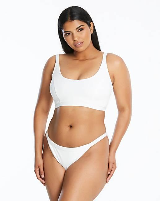 b7adfad5d5489 Simply Be Textured Bikini Tank Top | Simply Be
