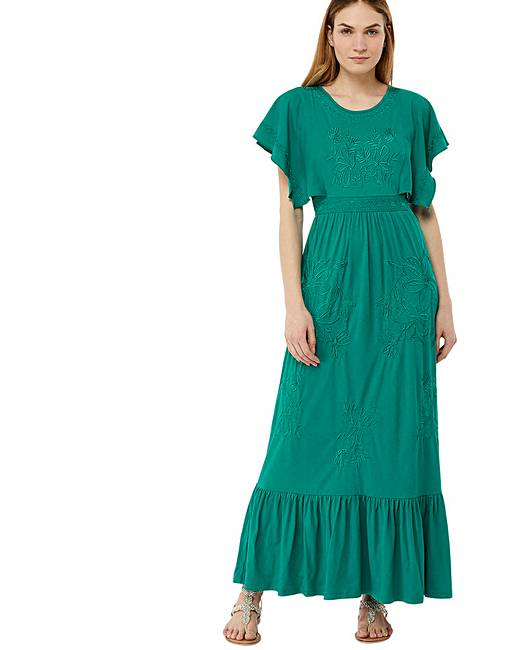 Monsoon Emma Embroidered Midi Dress | Simply Be
