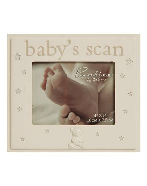 Bambino Resin Photo Frame 4x3 Babys Scan J D Williams