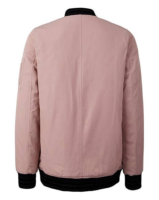 ce0d6b1de Pink Champagne Padded Bomber Jacket