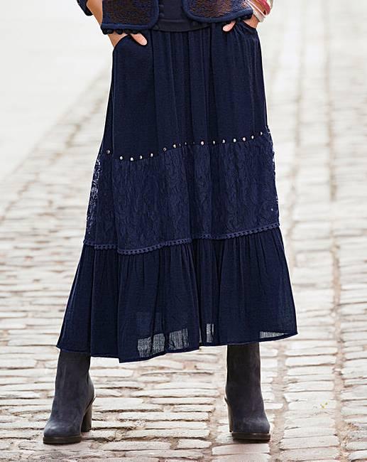 a008b8b1275b Together Maxi Skirt | Simply Be