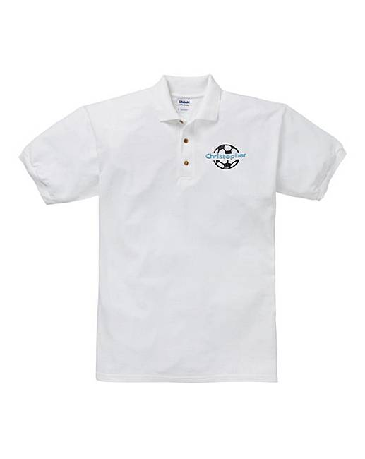 adcc5847 Personalised Football Polo Shirt
