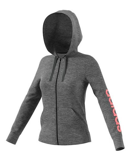 pretty nice aa123 2f3e2 Adidas Essential Linear Full Zip Hoodie  J D Williams