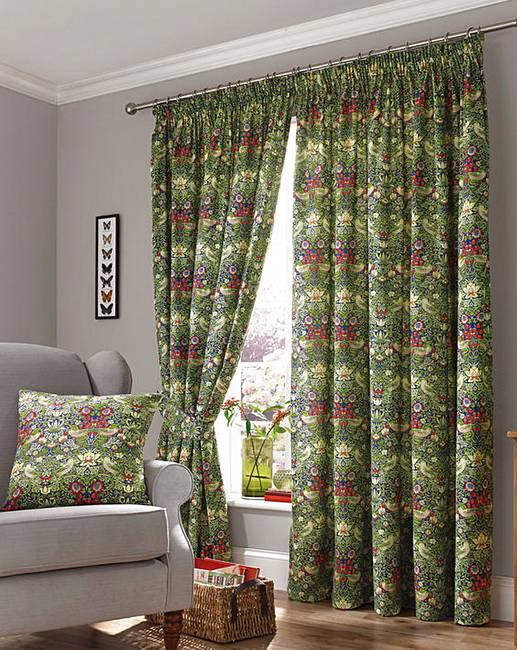William Morris Curtains With Tie Backs House Of Bath