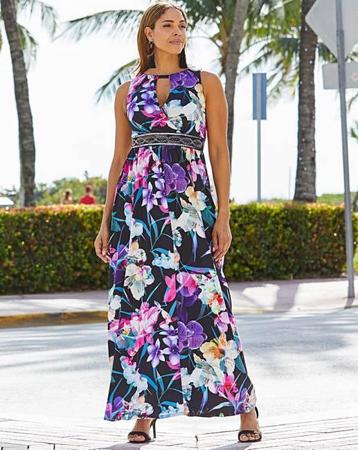519bb217626 Joanna Hope Print Jewel Maxi Dress | Oxendales