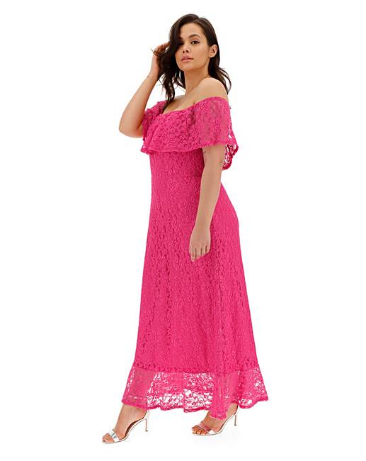 a4e510bdd470 Joanna Hope Lace Bardot Maxi Dress | Simply Be