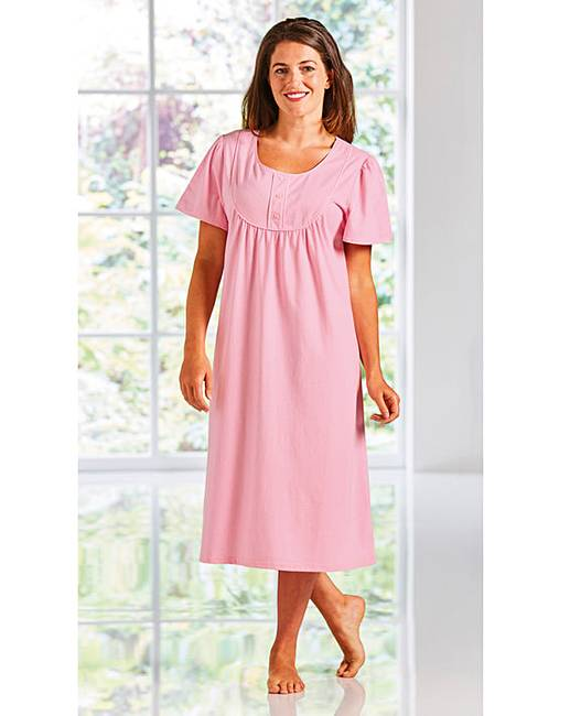 4ea35cfc5c Short Sleeved Jersey Nightie 2 Pack