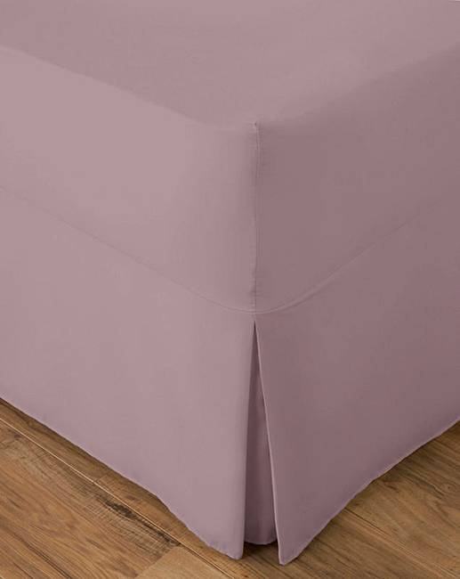 Plain Dyed Fitted Sheet Flat Top Sheet Valance Sheet /& Pillowcases  All Sizes